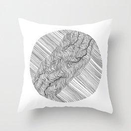 Rift Lines Throw Pillow