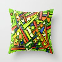 oakland Throw Pillows featuring Uptown Oakland by Octavious Sage