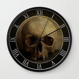 Male skull in retro style Wall Clock