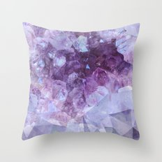 Crystal Gemstone Throw Pillow