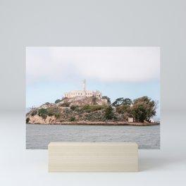 Alcatraz prison island San Francisco Bay in California   USA Travel photography Mini Art Print