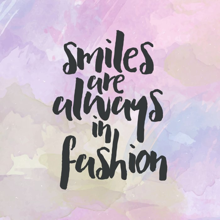 Smiles In Fashion Quote Comforters