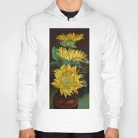 sunflowers Hoodies featuring Sunflowers by Michael Creese