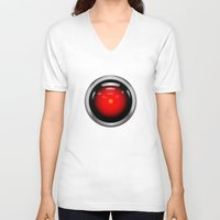 2001 a space odyssey V-neck T-shirts featuring HAL 9000 from 2001: A Space Odyssey by TOM / TOM