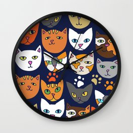 Kitty Cats Everyday Caturday Wall Clock