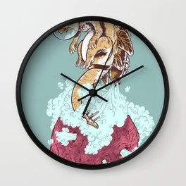 Space Stegosaurus  Wall Clock