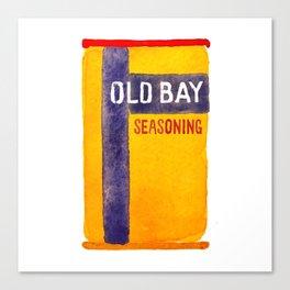 Old Bay Tin Baltimore Crab Watercolor Canvas Print
