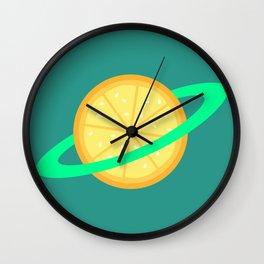 Planet Fruit: Orange   pulps of wood Wall Clock