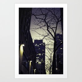 Morning  at 30 Rock Art Print
