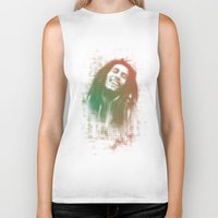 marley Biker Tanks featuring Marley Bob by getzair