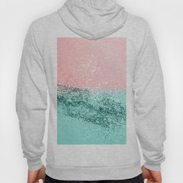 Summer Vibes Glitter #4 #coral #mint #shiny #decor #art #society6 Hoody