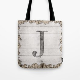 Neutral Monogram J Tote Bag