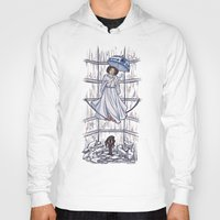 hallion Hoodies featuring Leia's Corruptible Mortal State by Karen Hallion Illustrations