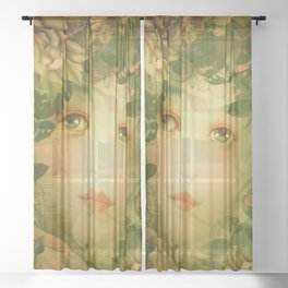 """""""The memory of an imagined childhood"""" Sheer Curtain"""