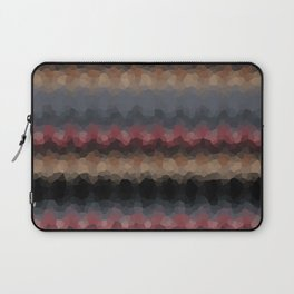 """Abstract pattern """"Black and red wave"""" . Laptop Sleeve"""