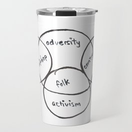 Musical genre intersections Travel Mug