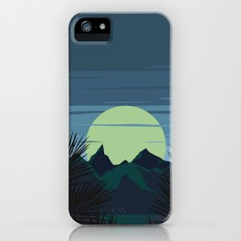 Mountain in Retro Style iPhone Case