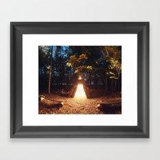 Light of the Teepee Framed Art Print