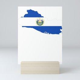 Bandera De El Salvador Mapa De El Salvador Flag Map design Mini Art Print
