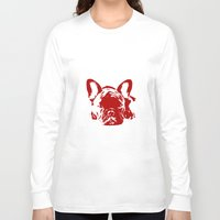 frenchie Long Sleeve T-shirts featuring Frenchie by Red Eyes Apparel