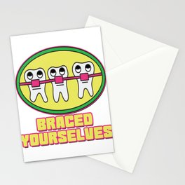 Braces Funny metal mouth sexy tooth dentist brace 1 Stationery Cards