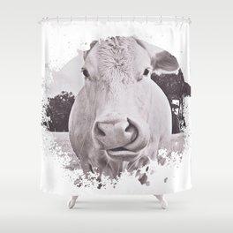 Vintage Bovine Shower Curtain