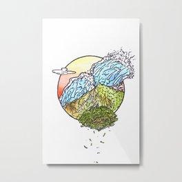 Sunset Island Metal Print