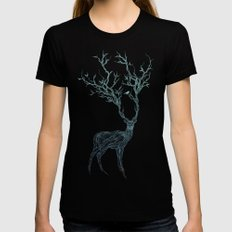 Blue Deer Womens Fitted Tee MEDIUM Black