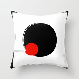 black and white meets red version 17 Throw Pillow