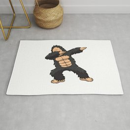 Dabbing Gorilla Shirt Ape Monkey Big Foot Dab Kids Rug