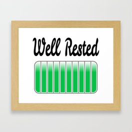 Well Rested Framed Art Print