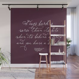 Proverbs: A Dog's Bark Wall Mural