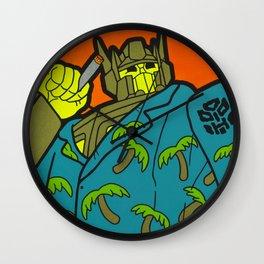 Opti-Maui Prime - tiki pop art Wall Clock