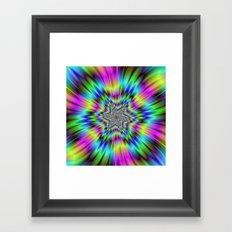 Rainbow Star Framed Art Print
