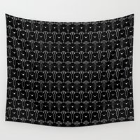 because cats Wall Tapestries featuring Cats Cats Cats by Tobe Fonseca