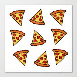 Pizza Pattern Canvas Print