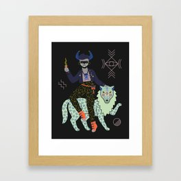 Witch Series: Demon Framed Art Print
