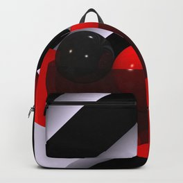3D in red, white and black -04- Backpack