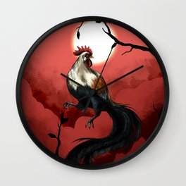 Chinese Zodiac: The Rooster Wall Clock