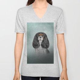 Drawing Dog Cavalier King Charles Spaniel Unisex V-Neck
