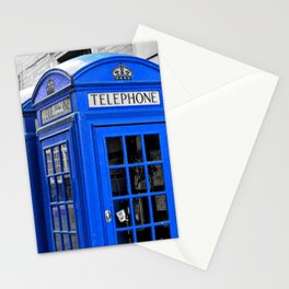 Red Booths Turned Tardis Stationery Cards