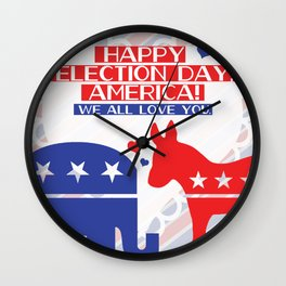 Happy Election Day, America!! Wall Clock