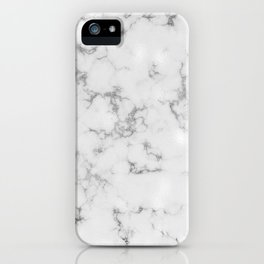 Dove Gray Marble With Soft Silver Veins iPhone Case