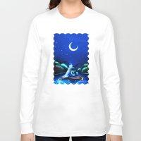 aladdin Long Sleeve T-shirts featuring Starry Night Aladdin by ThreeBoys