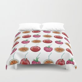 fresh fruits and cocktail rolls Duvet Cover