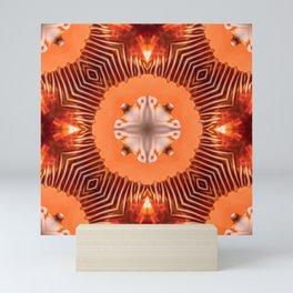 Sea snail shell with a geometric kaleidoscopic design Mini Art Print