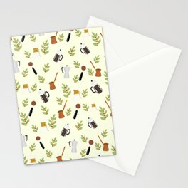 brewing pattern Stationery Cards