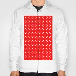 Dots (White/Red) Hoody