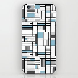 Map Lines Sky Blue iPhone Skin