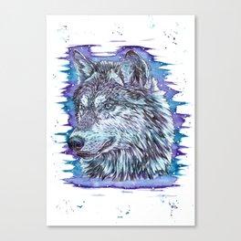 """The Packs Soul"" wolf watercolor artwork design. Canvas Print"